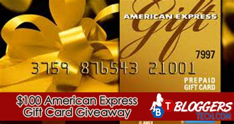 American Express Sweepstakes - 100 american express gift card giveaway