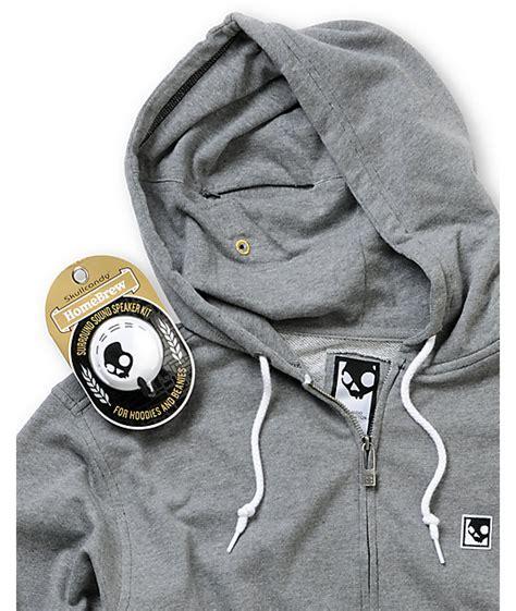 Hoodie Skull Grey skullcandy skullday grey headphone hoodie zumiez