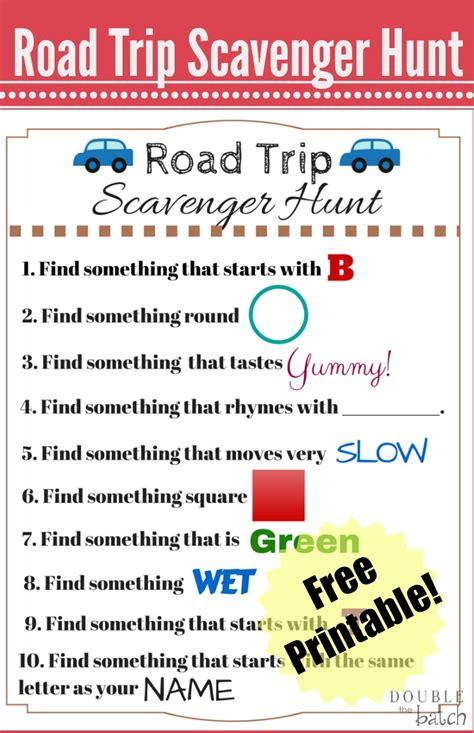 printable road trip scavenger hunt travel scavenger hunt printable uplifting mayhem