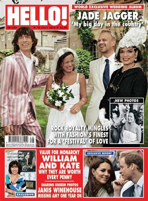celebrity skin hello issue 1234 jade jagger s wedding in the country