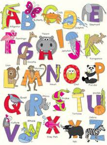 Animals abc by arthouse wallpaper direct