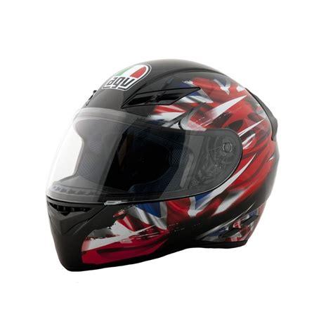 Helm Agv New agv k3 black uk flag motorcycle helmets brand new essexbikerscentre ebay