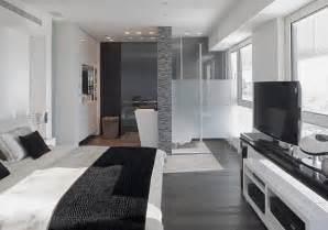 Black And White Apartment Home Interior Style Grey And White Apartment Decor Idea