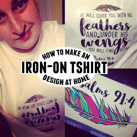how to make an iron on t shirt design at home