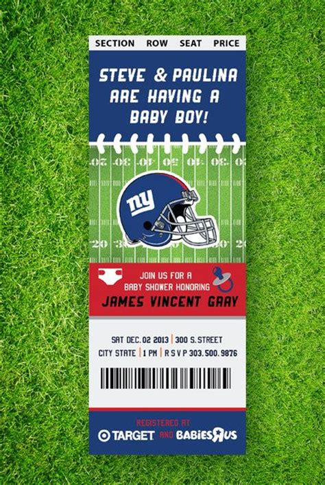 Free Football Baby Shower Invitations by Baby Shower Invitation Templates Football Baby Shower