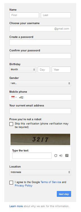 membuat email google gratis cara membuat email gratis google mail penikmat internet