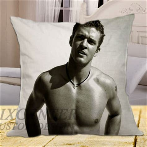 justin timberlake on square pillow from fix centers