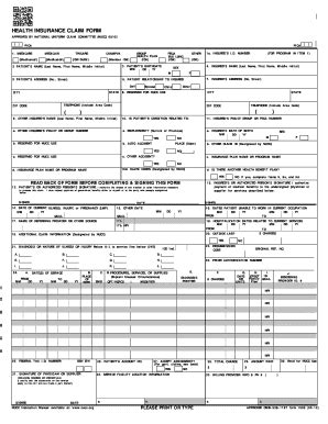 health insurance claim form 1500 template disaster recovery plan template forms fillable