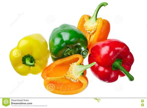 colored peppers multi colored peppers royalty free stock images image