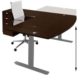 desk height electric lift height adjustable l shaped desks