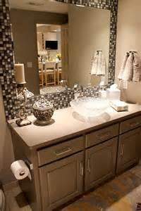 tile framed bathroom mirror 25 best ideas about tile mirror frames on pinterest