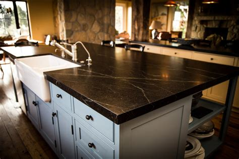 Farmhouse Kitchen Countertops by Soapstone Kitchen Farmhouse Kitchen