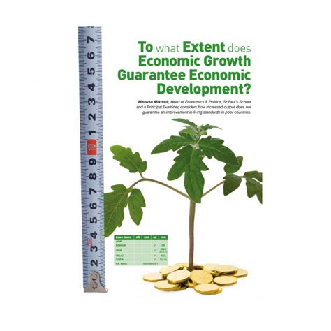 economic development anforme to what extent does economic growth guarantee