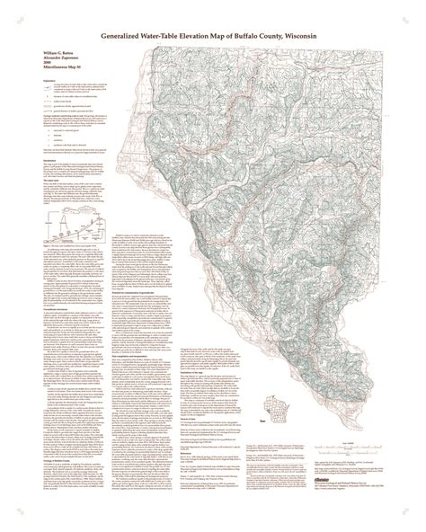 Water Table Map by Wisconsin Geological History Survey