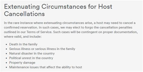 airbnb extenuating circumstances airbnb charged me cancellation fee x4 of 163 36 when