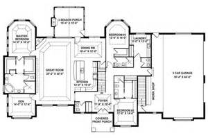 single level open floor plans one level open floor plans love this layout with extra rooms single story floor