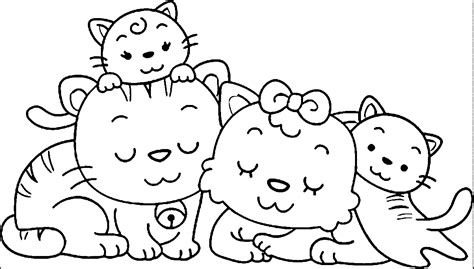 Animal Family Coloring Page | animal family coloring page az coloring pages