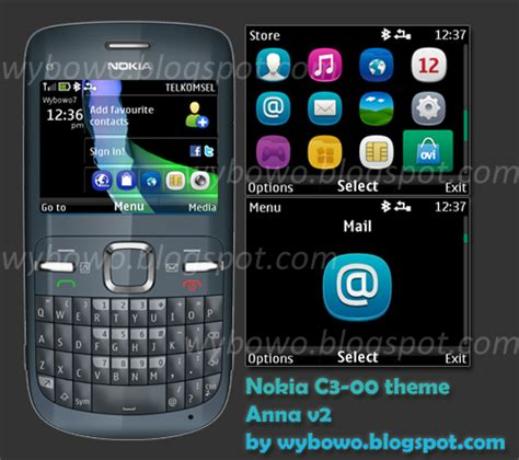 themes by nokia c3 mobile phones anna v2 theme for nokia c3 00