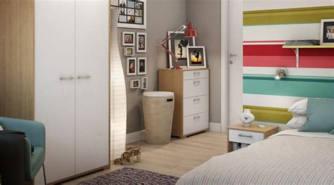 Freestanding Bedroom Furniture Evie Freestanding Oak White Bedroom Furniture Contemporary Other Metro By B Q
