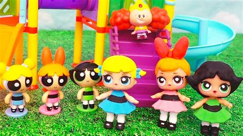 turn into doll lol dolls turn into powerpuff baby doll play diy