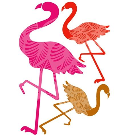 wall stickers b q flamingos wall stickers from b q kitchen tile decals