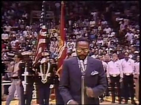 Marvin Gayes National Anthem by Marvin Gaye Sings The National Anthem At 1983 Nba All