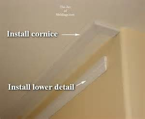 How To Put Cornice Up Piece Crown Moulding Build Up Apps Directories