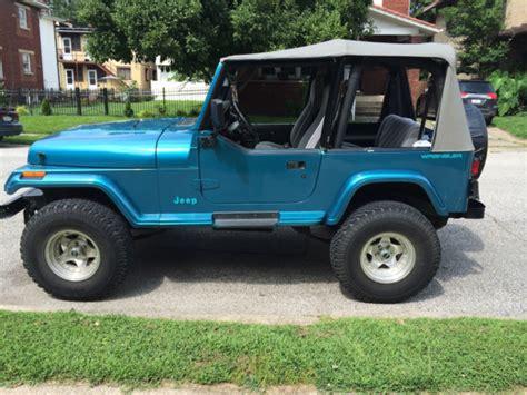 jeep wrangler inline 6 engine jeep wrangler s yj 4x4 4 0 l inline 6 for sale photos