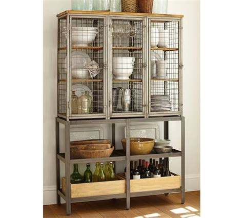 pottery barn china cabinet gridley caged storage cabinet pottery barn things for