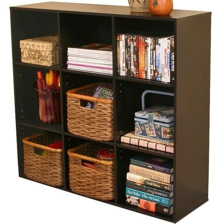 bookcase with nine cubby spaces for the home