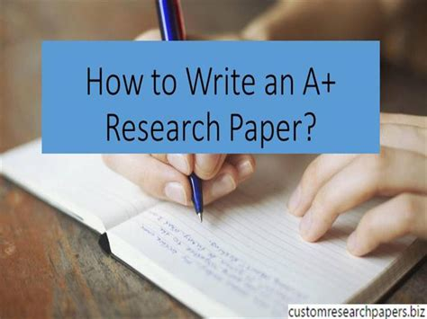 How To Make Research Paper Presentation - how to write an a research paper authorstream