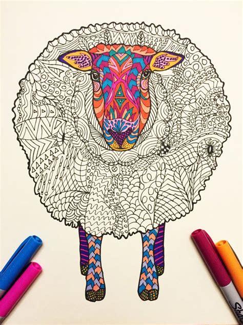 sheep  zentangle coloring page zentangle coloring