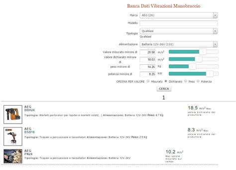 banca dati vibrazioni aggiornata banca dati paf vibrazioni mano braccio