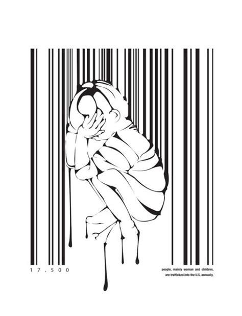 barcode tattoo human trafficking bar code art human trafficking illustration design swan