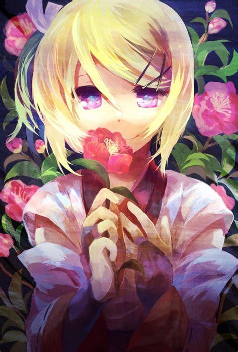 Autumn Changes My Rin Akizakura anime kagamine rin vocaloid flower anime vocaloid anime and kagerou project