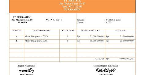 nota membuat blog akuntansi puna na mevi nota kredit debet