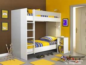Childrens Bedroom Layout Double Deck Bed Design