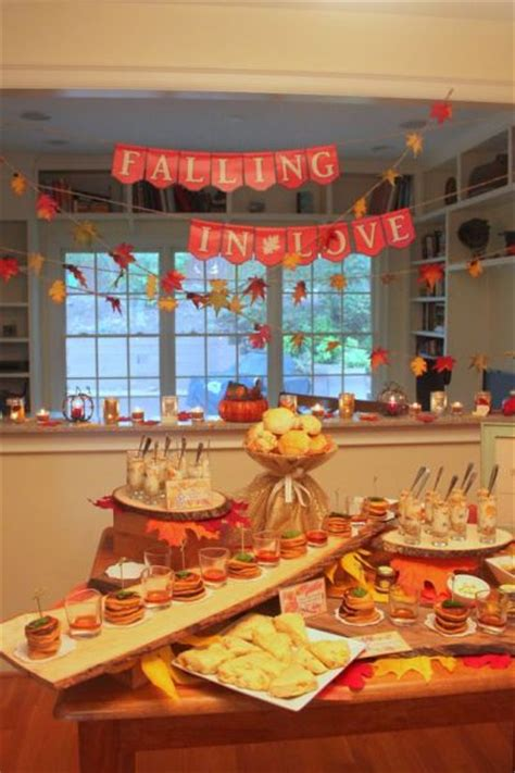 fall bridal shower decorating ideas bridal shower decoration ideas
