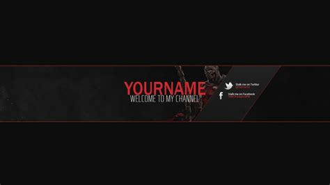 youtube banner template psd peerpex
