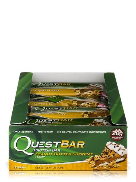 top quest bar flavors quest bar 174 peanut butter supreme flavor protein bar box