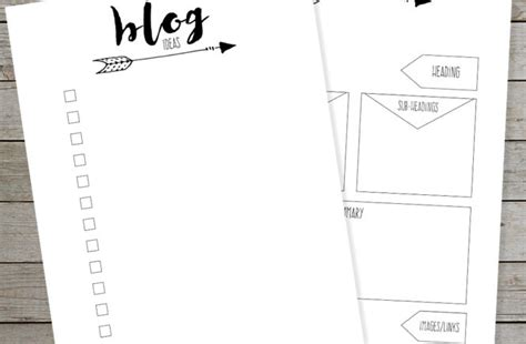 journal blog layout free printable weekly planner and daily planner