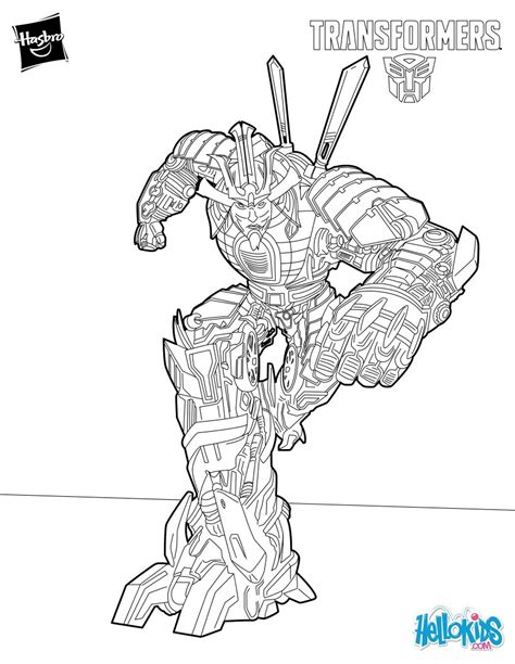 transformers 4 grimlock coloring pages