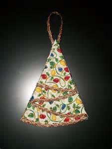 creative bling fabric christmas tree ornament