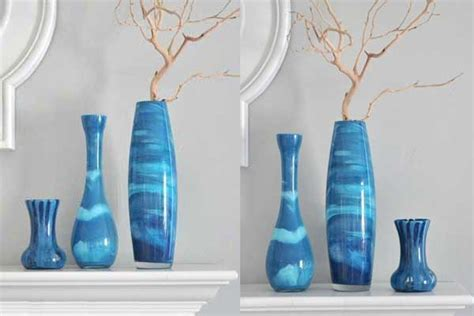 How To Paint Vases Ideas by Vases Design Ideas Diy Painted Glass Vases Design