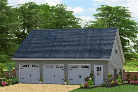 Lumber 84 Detached Attic Three Car Garage Prices Free Plans