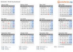 Kalender 2018 Pdf Schulferien Kalender 2018