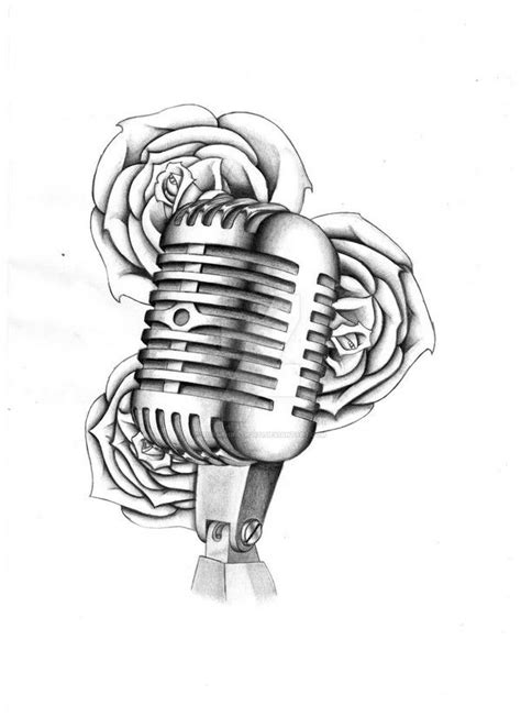 vintage microphone tattoo designs 72 best design drawings 2018 microphone