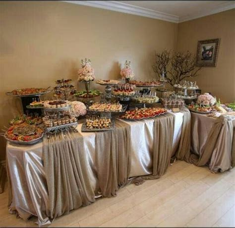 outstanding wedding catering buffet display ideas
