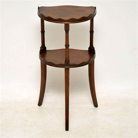 two tier side table antique mahogany two tier side table marylebone antiques