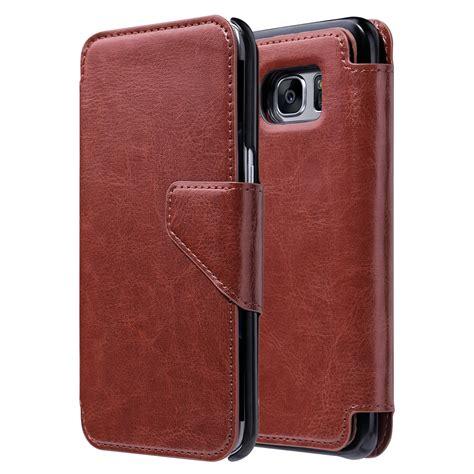 Samsung Galaxy S7 Edge Flipcase Magnetic Sliding Leather Flip for samsung galaxy s7 edge leather removable magnetic wallet flip cover ebay
